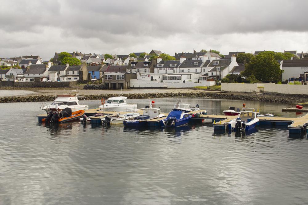 Bowmore Harbour on the isle of Islay, Scotland