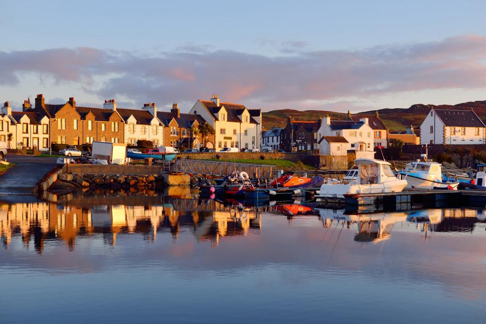 Port Ellen town at sunrise