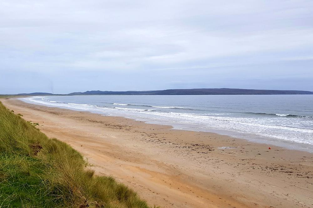 Long sandy beach on Islay, Scotland